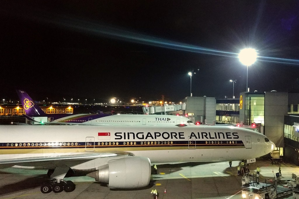 Flugzeugt Singapore Airlines