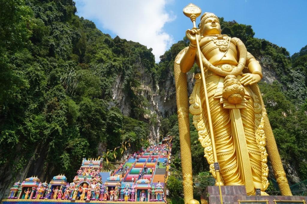 Batu Caves goldene Statue