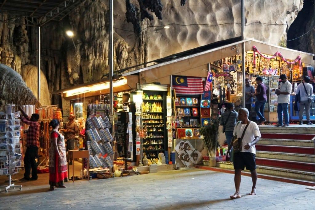 Kuala Lumpur Höhlen Shops
