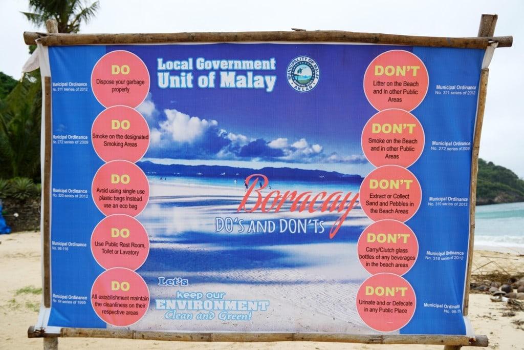 Boracay Regeln