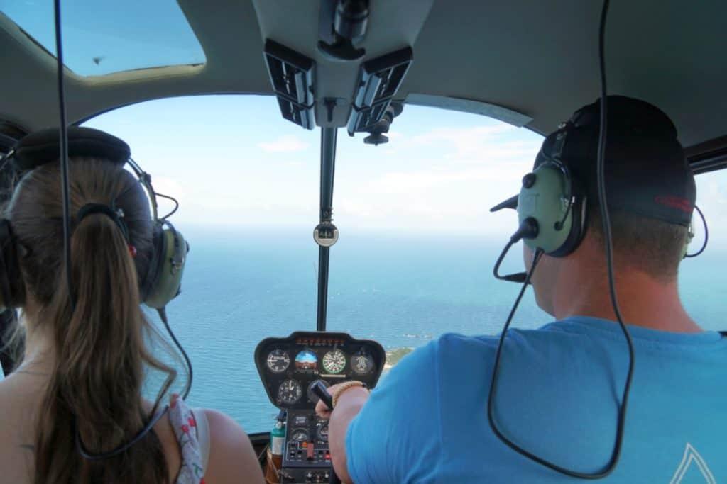 Helikopterflug auf Boracay