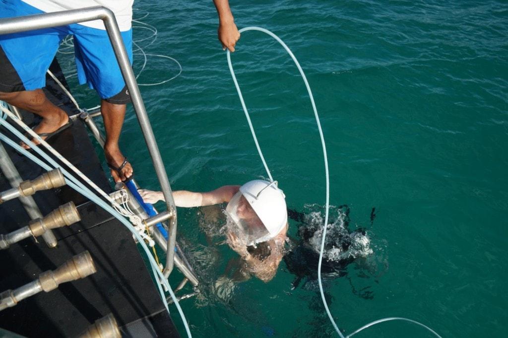 Helmet Diving auf Boracay