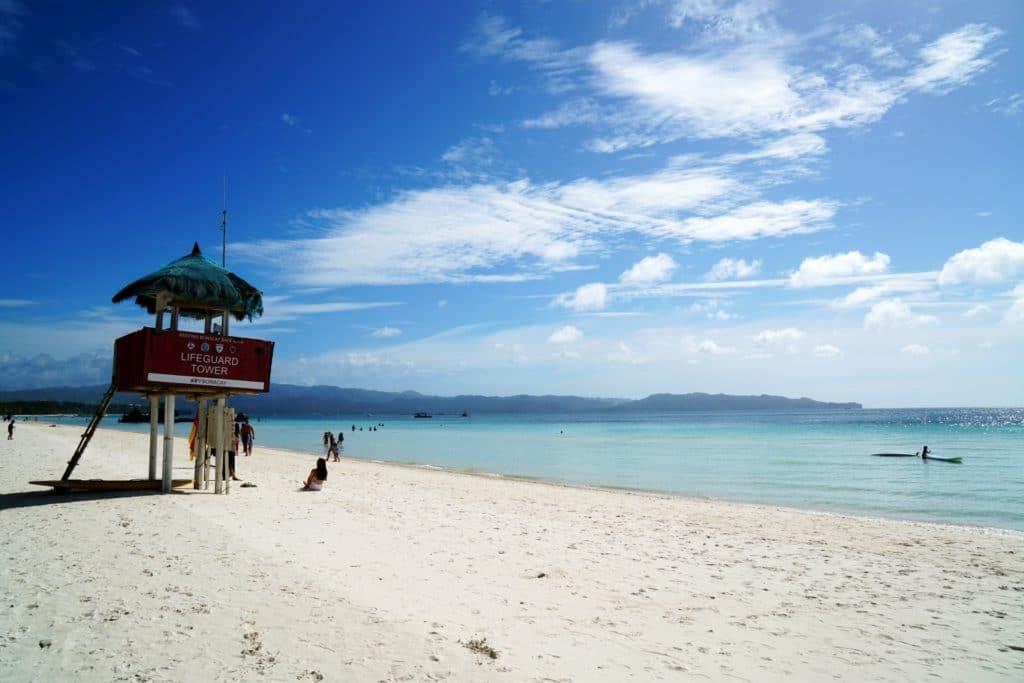 Hochsitz White Beach Boracay
