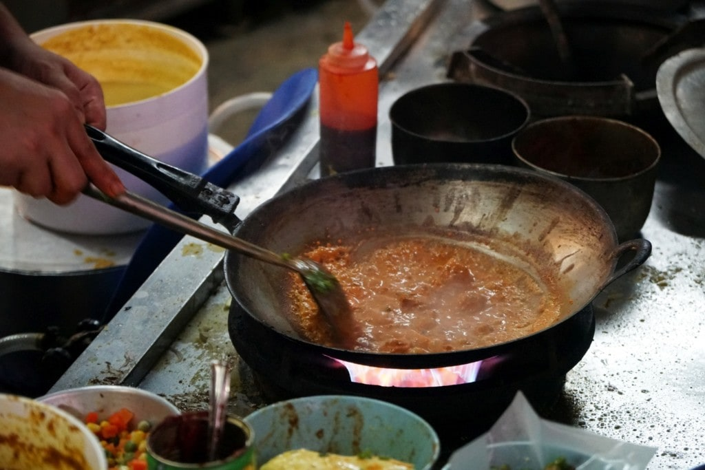 Hawker kochen Penang