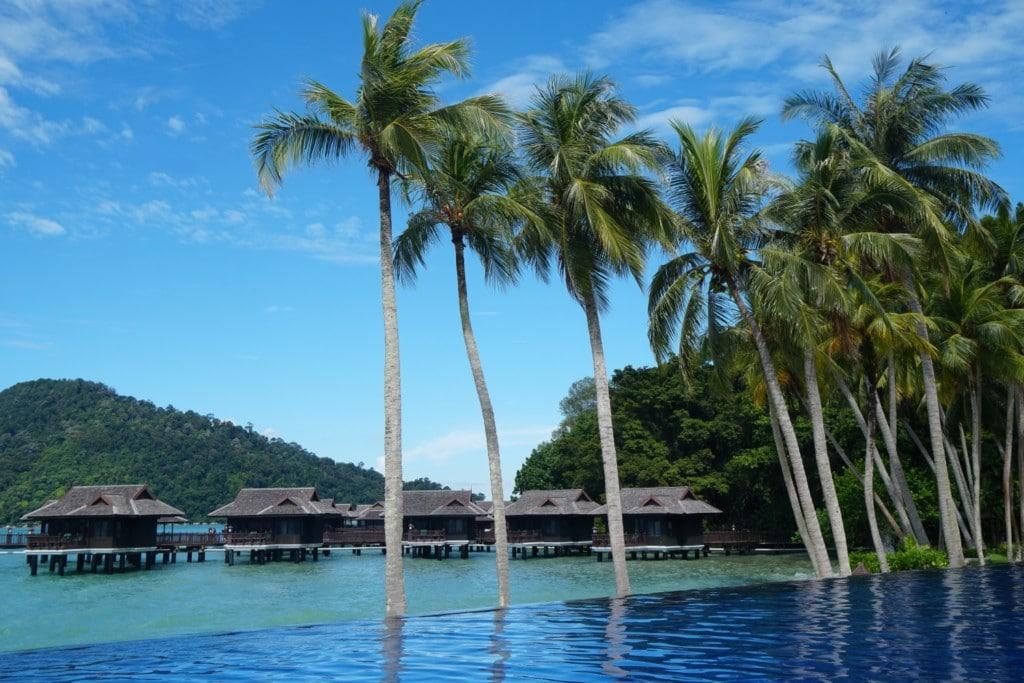 Pangkor Laut Palmen und Pool