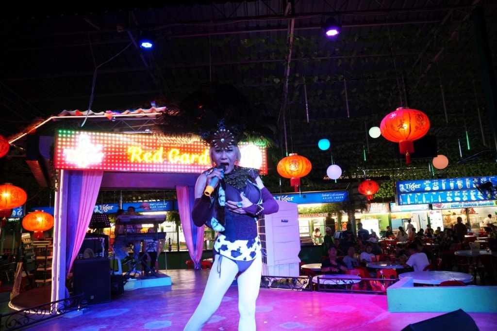 Lady Boy Show Red Garden Food Paradise