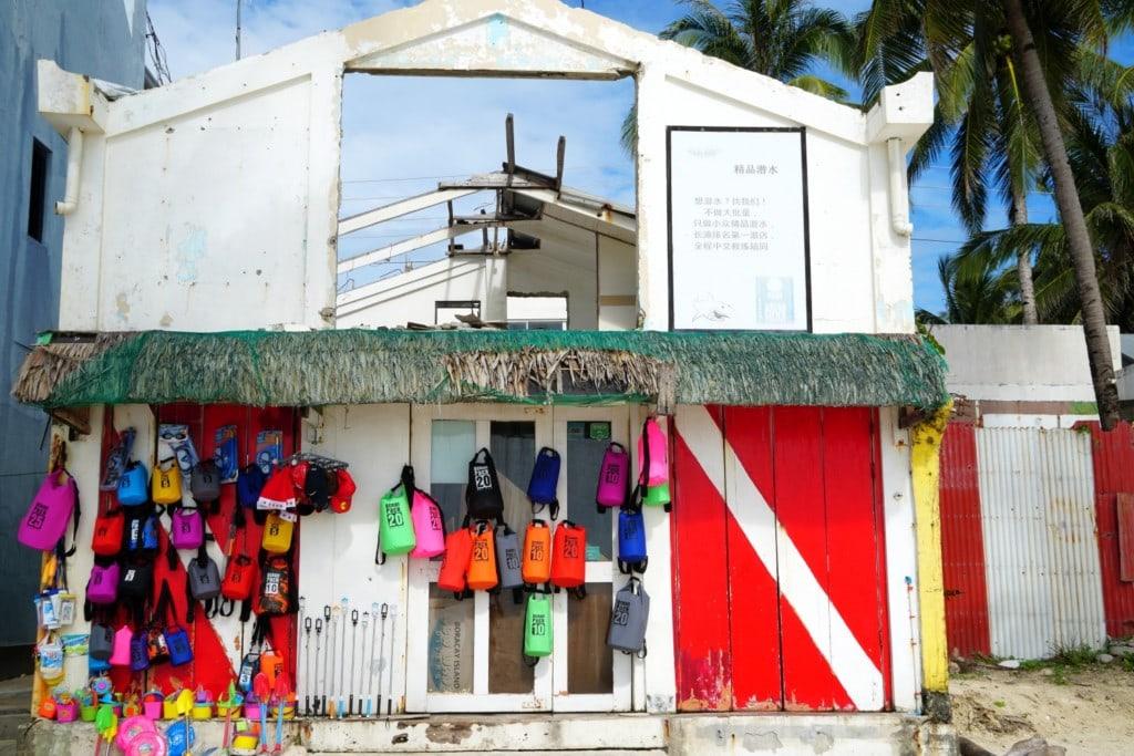 Verkaufsstand White Beach