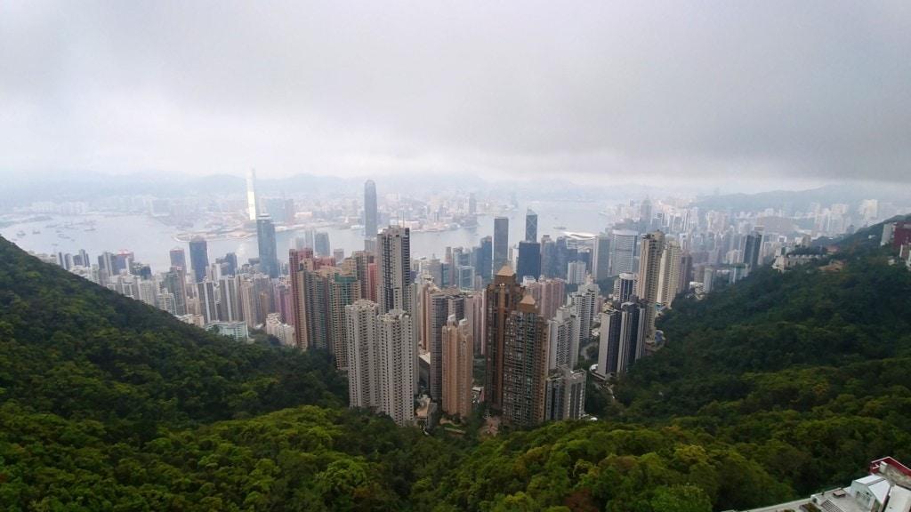 Aussicht Victoria Peak Hong Kong Island