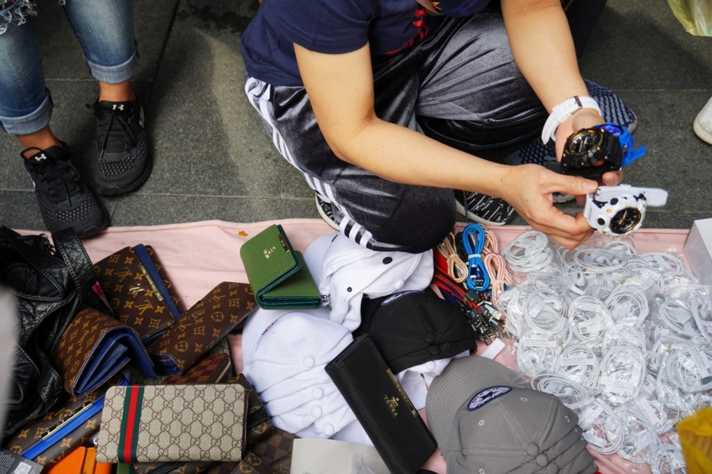 Verkäufer Hong Kong Island
