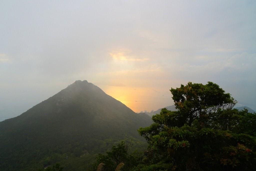 Victoria Peak Garden Sonnenuntergang