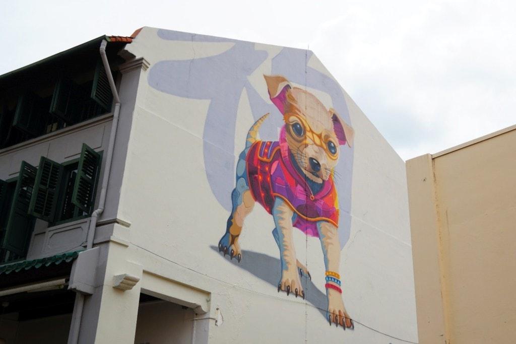 Chinatown Singapur Jahr des Hundes