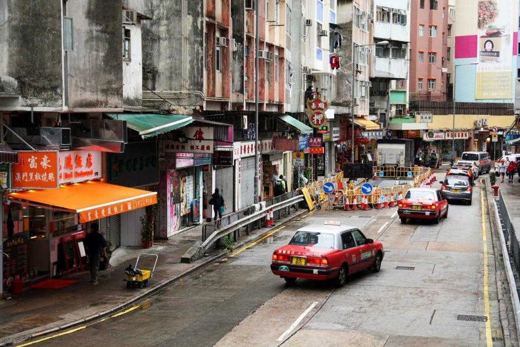öffentliche Verkehrsmittel in Hong Kong Taxi