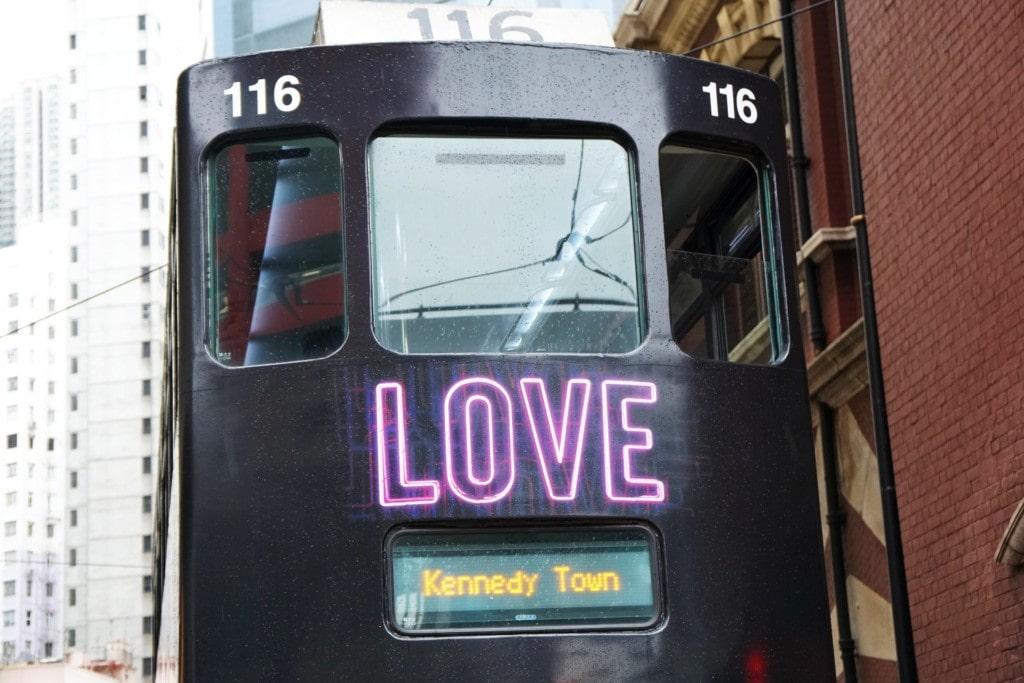 Love Tram öffentliche Verkehrsmittel in Hong Kong