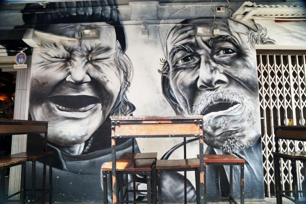 schwarz-weiß Street Art