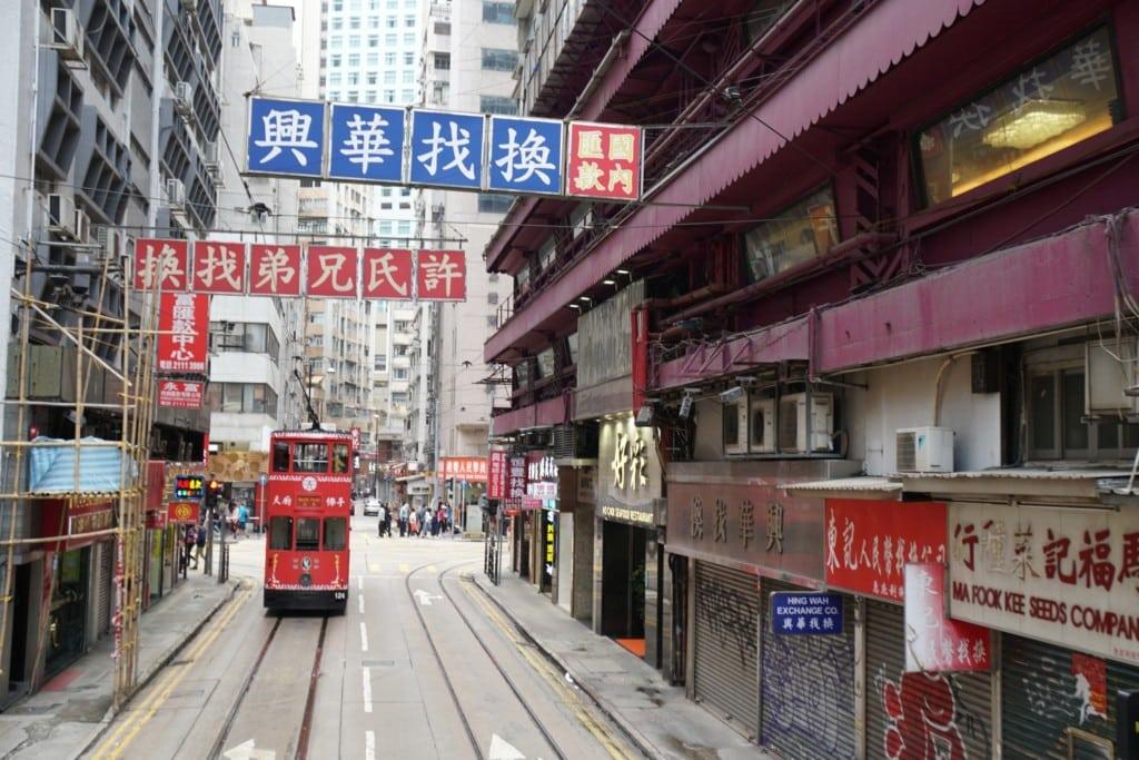 Straßenbahn öffentliche Verkehrsmittel in Hong Kong