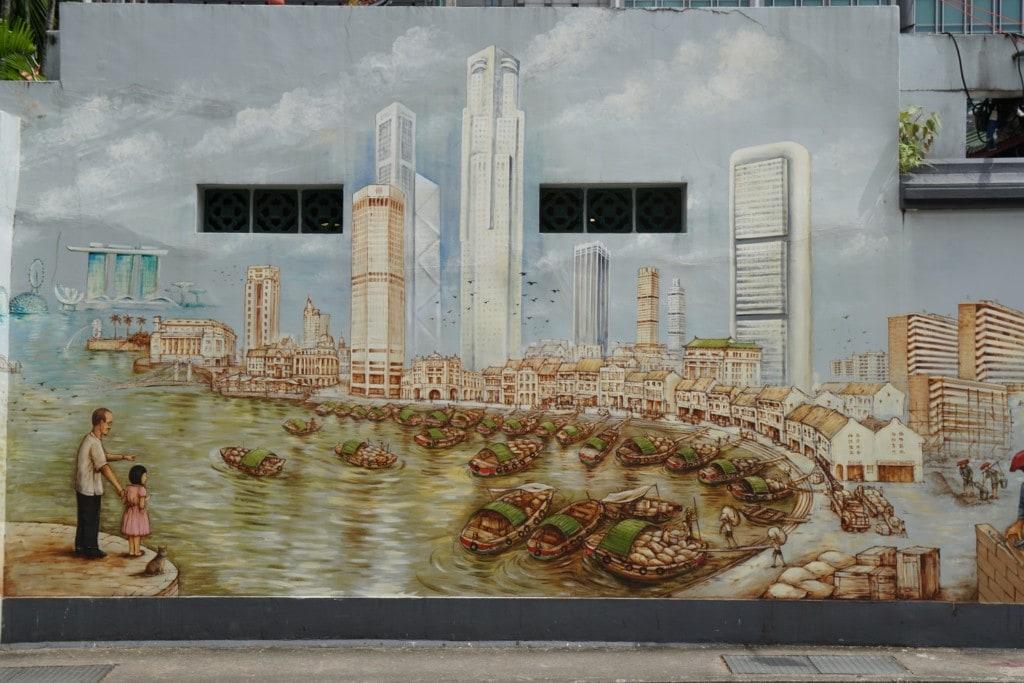 Thian Hock Keng Tempel Street Art Hafen