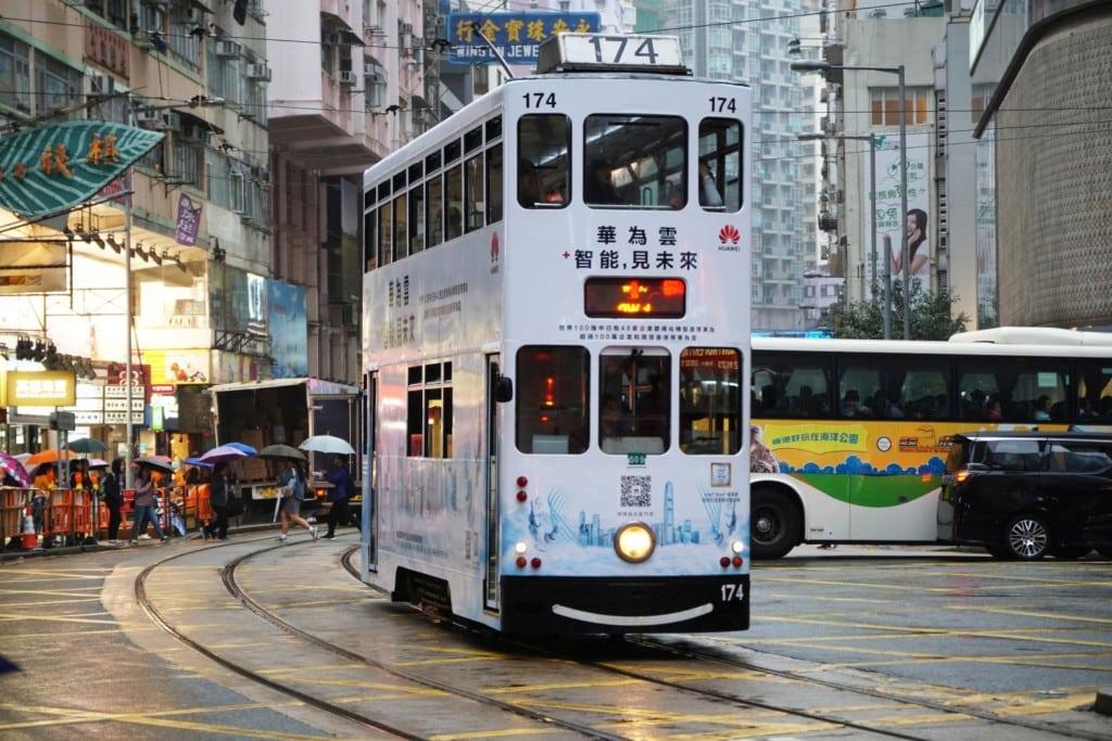 Tram öffentliche Verkehrsmittel in Hong Kong