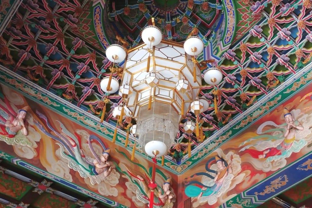 Tempel Malerei Skulpturen