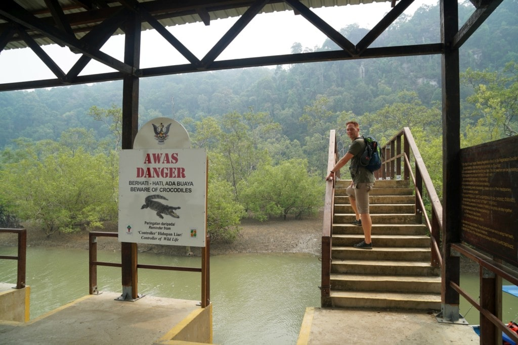 Bako Trails Krokodil Warnung