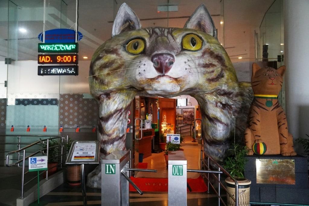 Eingang Katzenmuseum Kuching
