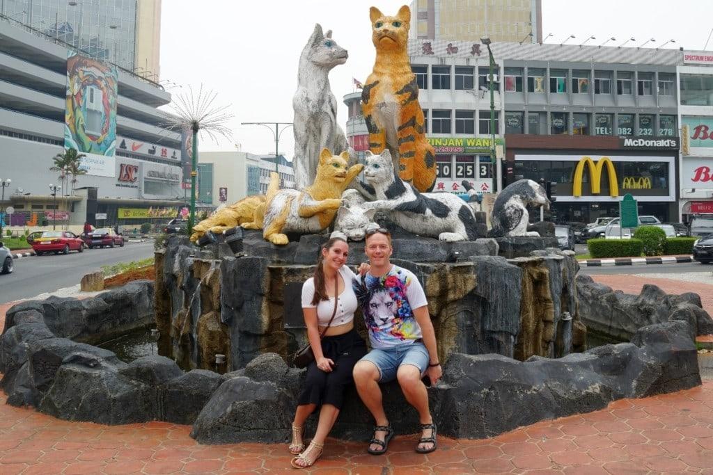 Kuching Katzenstatue