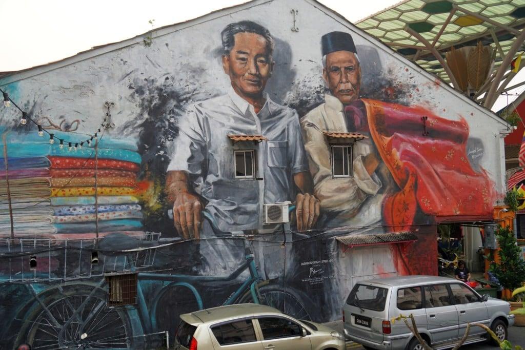 Kuching Streetart Textitverkäufer