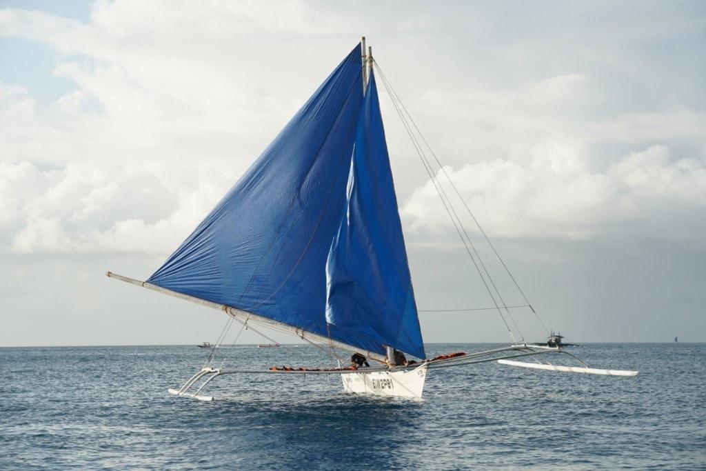 Paraw Segelboot blau