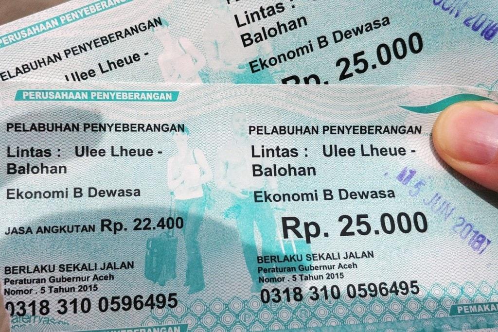 Pulau Weh Autofähre Tickets
