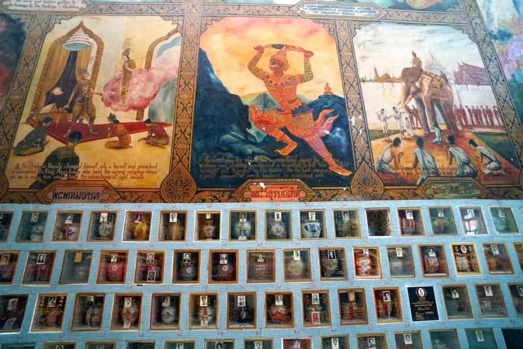 Wandbilder Lying Buddha Temple