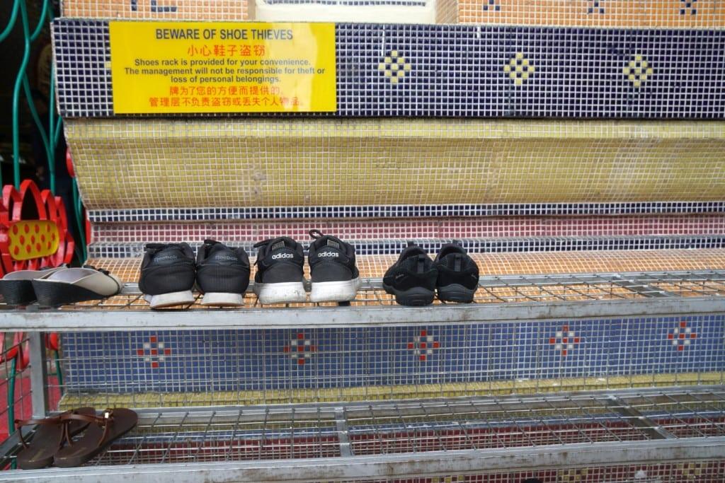 Wat Chaiyamangalaram Schuhe