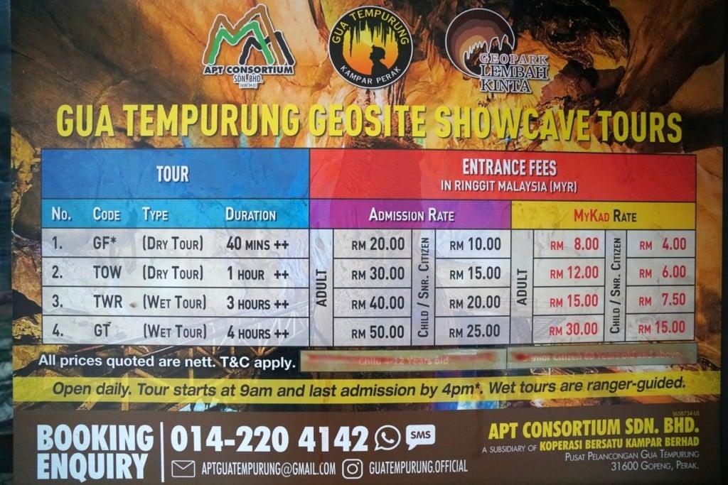 Gua Tempurung Tour Info