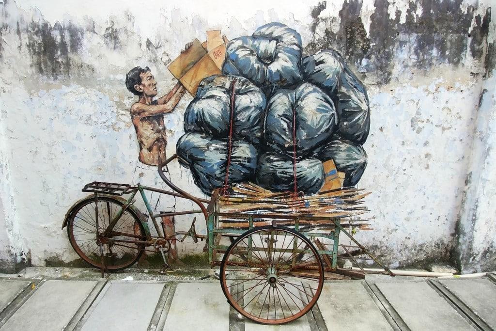 Ipoh Street Art Trishaw