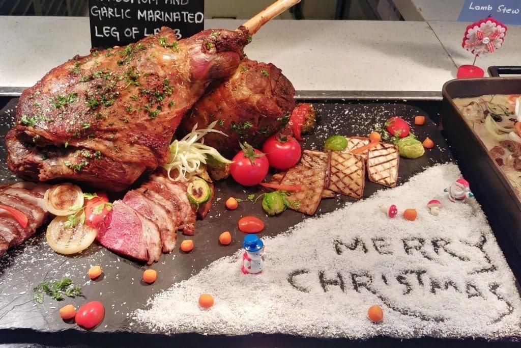 Lammkeule zu Weihnachten in Malaysia