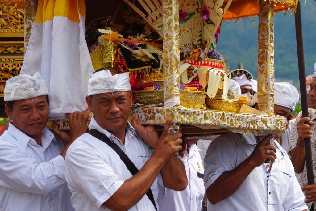 Bali Hindu-Prozession