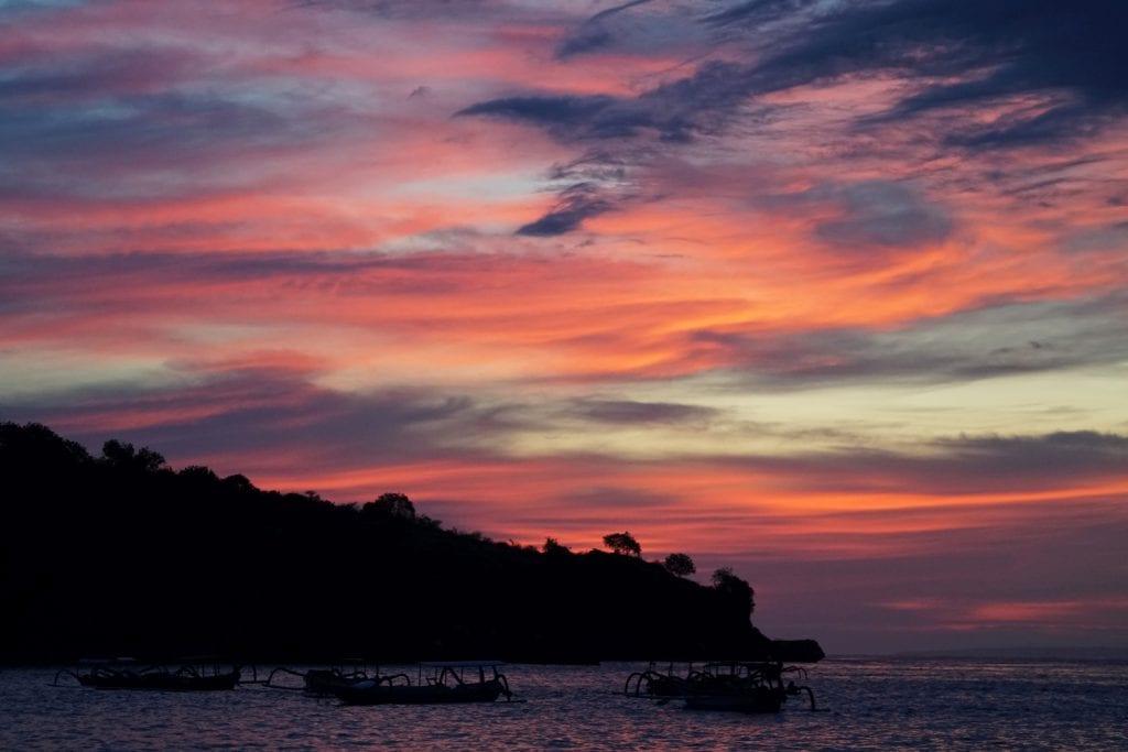 Nusa Penida Sonnenuntergang