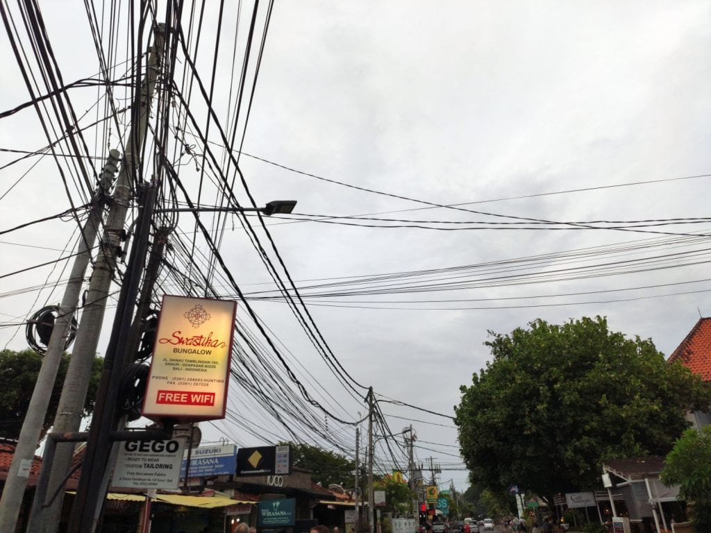 Stromnetz Bali