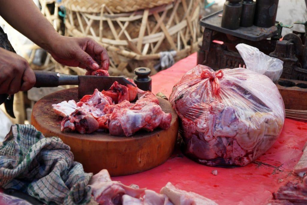 Bali Wet Market Fleisch