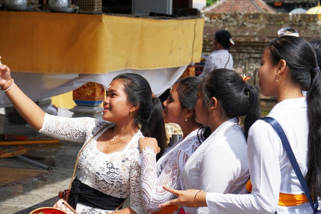Balinesen Selfie
