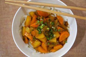 Curry Udon Serviervorschlag