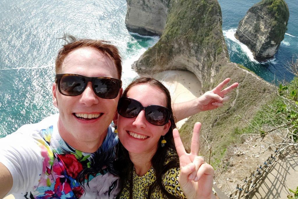Kelingking Beach Selfie