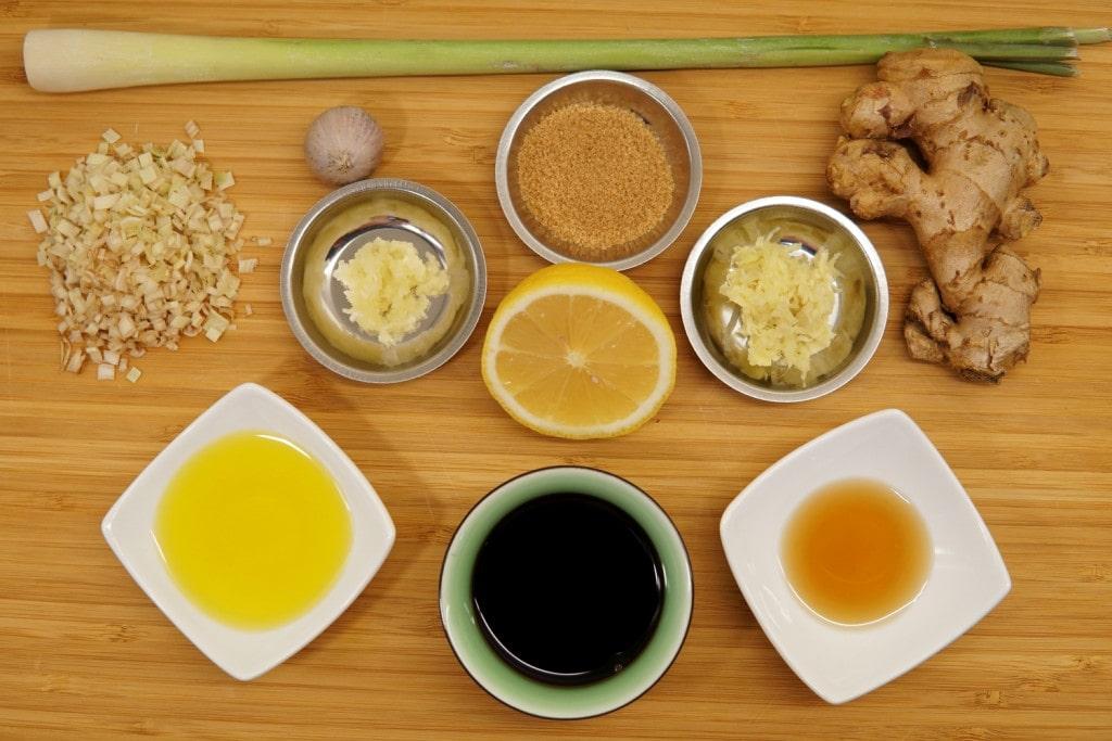 Zitronengras Hähnchen Marinade Zutaten