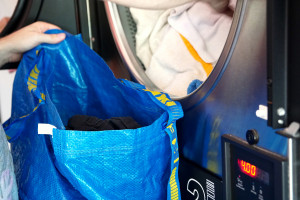 trockenen Wäsche Sack