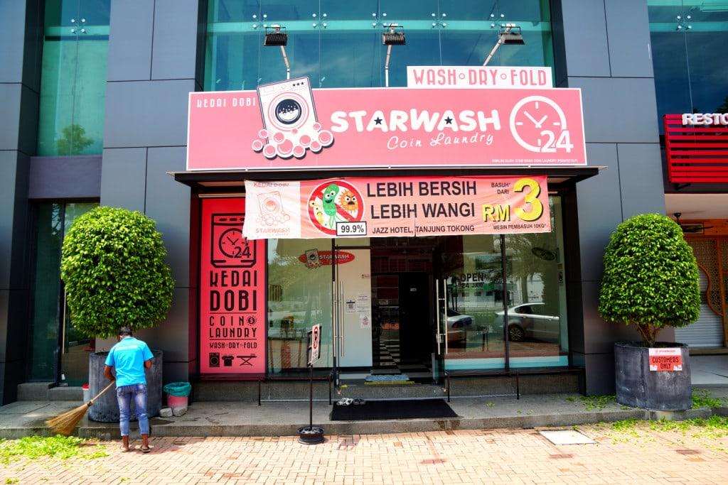 Waschsalon auf Reisen