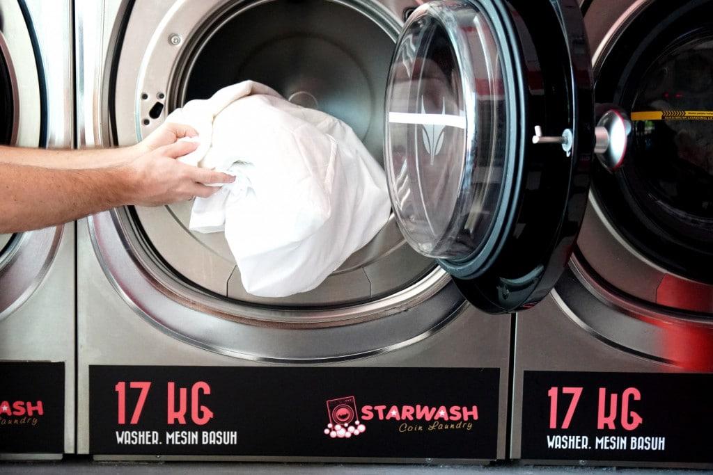 Waschsalon Decke und Kissen waschen