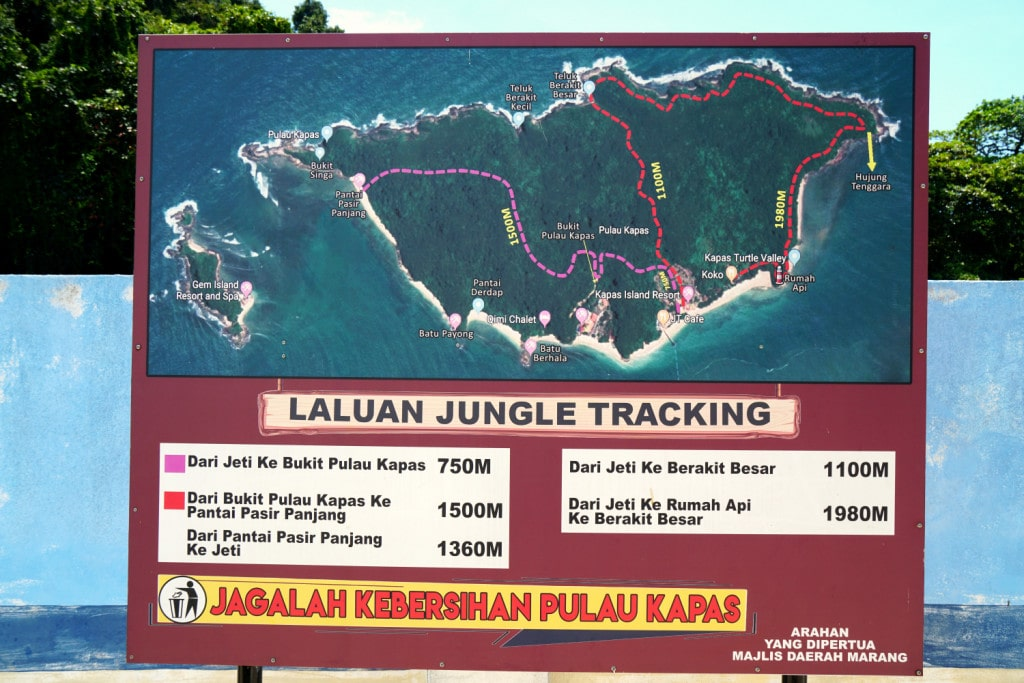 Kapas Trails Karte