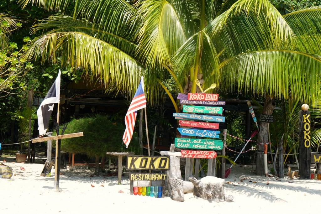 Übernachten auf Pulau Kapas