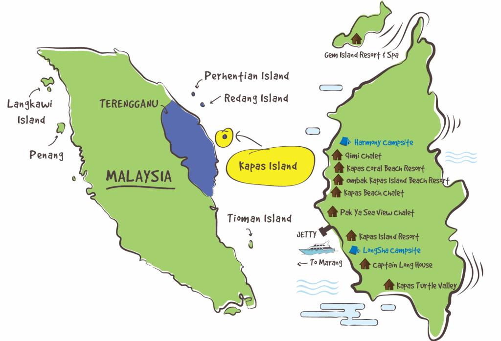 Karte von Pulau Kapas