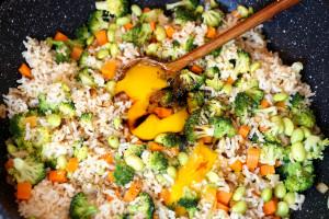 Zubereitung Gemüsereis mit Ei