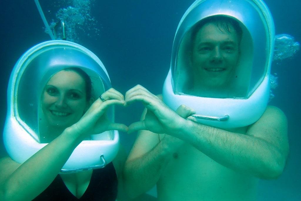 Boracay Helmet Diving Heart