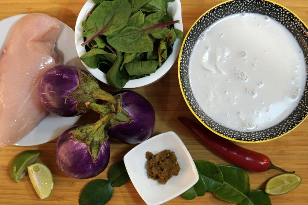 Grünes Curry Zutaten